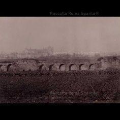 : Resti delle Mura Aureliane all'altezza di Porta Latina. Anno: 1890