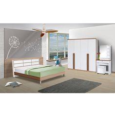 ขายถูก RF Furniture ชุดห้องนอน คาปูชิโน่/ขาว 5 ฟุต เตียง
