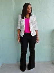 Casual blazer outfit for women (29)