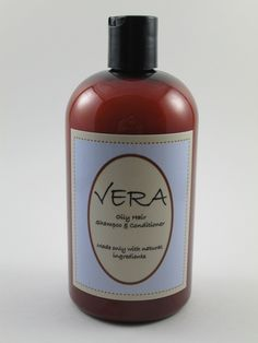 Vera Oily Hair Shampoo & Conditioner 16 oz. Our natural hair care products for oly hair are designed for both Men and Women. Balances normal to oily hair with essential moisture, pro-vitamins and unique plant proteins, while gently removing impurities, excess oil and build-up.  If you are looking for a permanent solution, switch to natural hair care products for oily hair that nourish without weighing it down.