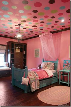 Polka Dots on the ceiling? Why not?
