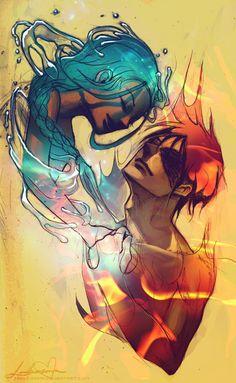 Avatar: The Last Airbender. Zuko. Katara. Zutara. Water, Fire.