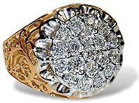#Jewelry #Rings Men's Diamond Kentucky Cluster Ring