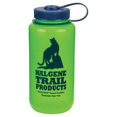Nalgene HDPE Wide Mouth Water Bottle Green 1Quart *** Click image to review more details. Note:It is Affiliate Link to Amazon.