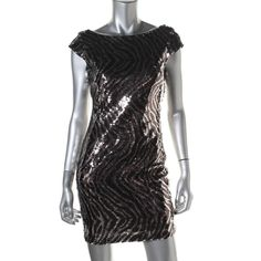 Guess Womens Shimmer Sequined Party Dress