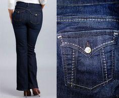 Not Your Daughters Jeans NYDJ Courtney Bootcut Flap Pockets Dark 8 *LKNEW* #NotYourDaughtersJeans #BootCut
