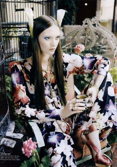 Vogue Australia, April 2011 ('Orient Excess', shot #12). Photo: Nicole Bentley. Model: Codie Young.