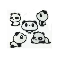 Panda Animal Patches Cartoon Patches Personalized Gifts Patch Embroidered Patches Iron On Patch Sew On Patch A5