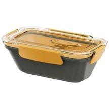 EMSA 513954 BENTO BOX BOÎTE DE REPAS RECTANGULAIRE AVEC COMPARTIMENTS POLYPROPYLÈNE GRIS/ORANGE 0,5 L Boîte-repas hermétique de haute qualité  Design permettant de l'empor… Voir la présentation