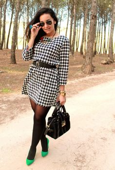 Street Style - ways to wear houndstooth