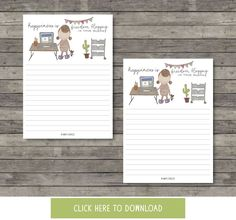 Happiness is Freedom Blogging in Your Pajamas // Notecard by Mayi Carles // Heartmade Blog