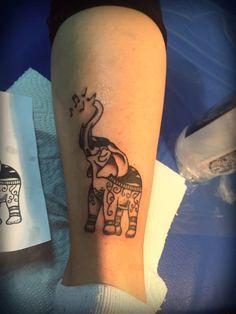 Elephant tattoo I did to my friend :)  #tattoo #elephant #babyblue #babyblueart #babybluetattoo #followme #pinit #pin #amazing #artist #tattooartist #girlartist #art #ink #inked #tattooed #tattooedleg #legtattoo