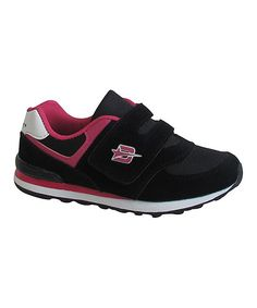 Black & Fuchsia Retro Sneaker
