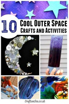outer space party The Coolest Outer Space Crafts for Kids The Coolest Outer Space Crafts for Kids, Space Preschool, Preschool Crafts, Fun Crafts, Camping Crafts, Science Crafts, Summer Crafts, Creative Crafts, Space Projects, Projects For Kids
