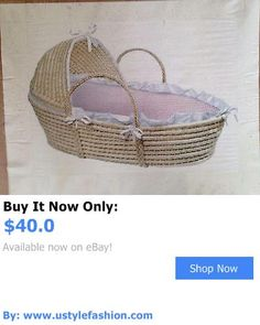 Bassinets And Cradles: Badger Basket Baby Hooded Moses Bassinet Cradle Basket Pink Gingham New BUY IT NOW ONLY: $40.0 #ustylefashionBassinetsAndCradles OR #ustylefashion