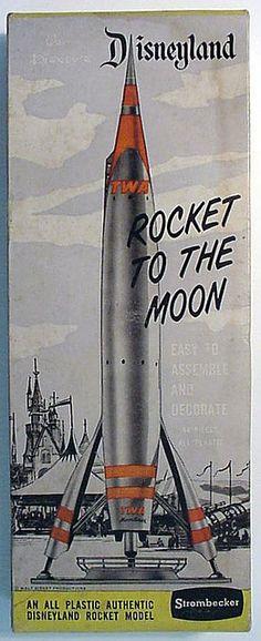 *ROCKET KIT Disneyland rocket to the moon TWA model