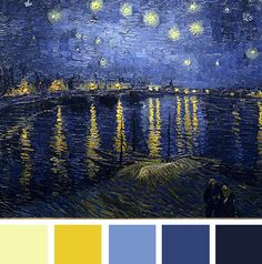Starry Night Over the Rhone Color Palette