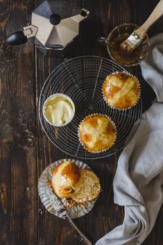 Remember those hot cross buns. I had some extra wee bit of dough, so i made them into itty bitty hot cross bun muffins :D perfect with hot cuppa! Hot Cross Buns, Monkey, Muffins, Cupcake, Breakfast, Sweet, Blog, Morning Coffee, Jumpsuit