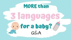 In this Q&A video, I´m going to give you a bunch of TIPS for raising multilingual babies in MORE THAN THREE languages using real-life-scenarios of people tha. Improve Concentration, Word Nerd, First Language, My Children, Languages, Kids Learning, Raising, Real Life, Insight
