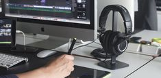 Posto Headphone Stand on work desk