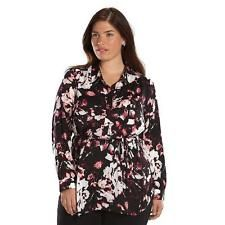 Apt. 9 Shirred Tunic- Women's Plus Size 1X Floral NEW with TAG