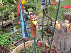 Tag der offenen Ateliers – Wagram Kreativ Bird Feeders, Wind Chimes, Pottery, Clay, Birds, Outdoor Decor, Creative, Ceramica, Clays