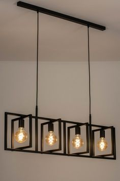 Závěsné černé svítidlo Boston Loft Black X Kitchen Lighting Fixtures, Modern Light Fixtures, Dining Room Lighting, Light Fittings, Home Lighting, Modern Lamps, Glass Ceiling Lights, Ceiling Lamp, Ceiling Design