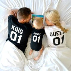 King and Queen 01 Prince 01 Father Mother Son Daughter T-shirts, King and Queen shirts, 01 Couples Shirts, 100% cotton Tee, UNISEX