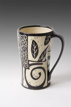 Patches Mug: Jennifer Falter: Ceramic Mug - Artful Home