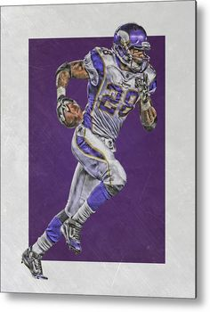 7905d4726 Adrian Peterson Metal Print featuring the mixed media Adrian Peterson  Minnesota… Sports Drawings