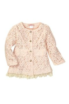 Long Sleeve Lace Jacket (Toddler & Little Girls) by Paulinie on @HauteLook