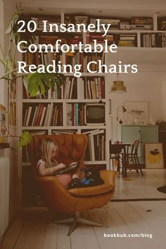 The best comfy reading chairs for all interior design styles, spaces, and types of readers. #reading #chairs #readingchairs Comfy Reading Chair, Reading Nook Kids, Reading Chairs, I Love Books, Great Books, Grant Proposal, Library Inspiration, Book Nooks, Bookshelves