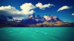 Argentina Nuvens Montanhas Lagos Paisagens Montanhas Natureza Patagônia Rios Mar Verão Torres Del Paine Ondas de água