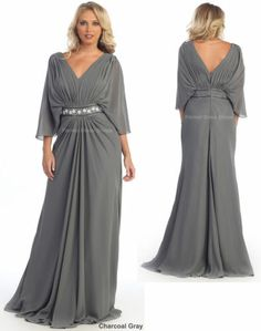 3/4 SLEEVE MOTHER OF THE BRIDE GROOM DRESS FORMAL EVENING PLUS SIZE GOWN CHURCH