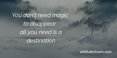 You don't need magic to disappear, all you need is a destination