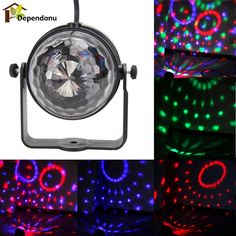 Professional RGB LED Crystal Magic Rotating Ball Stage Light Party Disco Stage Light Sound Active
