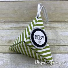 Origami Triangle Ornament with Video Tutorial - The Paper Pixie Origami Christmas Tree, Origami Ornaments, 3d Christmas, Paper Ornaments, Xmas, Origami Gift Box, Origami Star Box, Origami Stars, Origami Tree