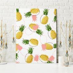 Pineapples & Pine Cones Art Canvas & Metal Prints @society6 #decor #buyart http://ift.tt/2grsrG5