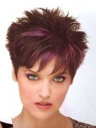 short spiky hair for women - Google Search