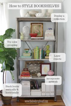 How to style a bookshelf via The Lovely Cupboard  #diy #decorating #homedecor