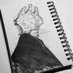 """Life is meaningless"" Day 4 - #blockhead  #seasonofthebadguysclub2 #inktoberid #inktober #inktober2017 #lifeformdrawingclub #lifeformdrawing #lowbrowart #lowbrowwolfpack #popsurrealism #sketchbook #doom #deathmetalart #ink #tattoo #funeral #motivation #darkartist #darkartists #blackworknow #blackwork #outofstepbooks #underwater #hamburgart"