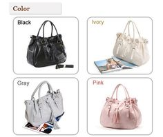 WOMENS PURSE HANDBAGS LEATHER SHOULDER TOTE BAGS, Brown COLOR
