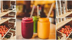 modern smoothie bar - Google Search Jenny Bakery, Smoothie Shop, Rustic Cafe, Cafe Restaurant, Hot Sauce Bottles, Juice, Fruit, Joyful, Image