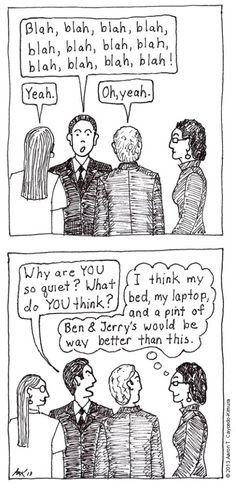 What Do YOU Think? Introvert Cartoon from http://infjoe.wordpress.com.
