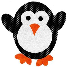 Penguin iron on applique DIY by patternoldies on Etsy, $3.25