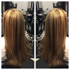 TO ME, she is still a blonde;)...but here was a winter trim and subtle darkening. Marylyn Toney - Rachael Davis Hair Studio, Newport News Virginia
