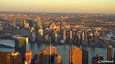 EarthCam teamed up with Affinia Dumont and Hyatt Regency Jersey City to deliver live views of New York City. Explore Midtown Manhattan and get the perfect look at some of the city's most recognizable landmarks, including the impressive Chrysler Building. Nyc Skyline, Chrysler Building, Jersey City, Live In The Now, New York City, Explore, Sunset, Travel, Viajes