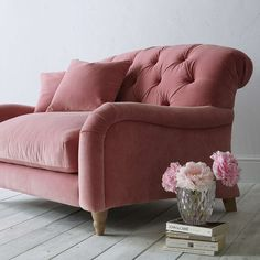 Buy Crumble Large 3 Seater Sofa by Loaf at John Lewis in Dusty Rose Clever Velvet, Light Leg from our Sofas & Sofa Beds range at John Lewis & Partners. Free Delivery on orders over Living Room Chairs, Living Room Decor, Dining Chairs, Dining Room, Rosa Sofa, Best Leather Sofa, Pink Sofa, Pink Velvet Chair, Living Room