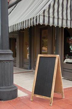 Suffolk Two-Sided Chalkboard - Chalkboard Easel - Chalkboard Sidewalk Sign - Sandwich Board Signs - Chalkboard Signs | HomeDecorators.com
