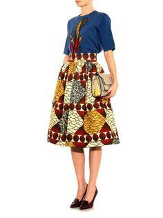 Assunta Patrizia-print skirt   Stella Jean   MATCHESFASHION.COM